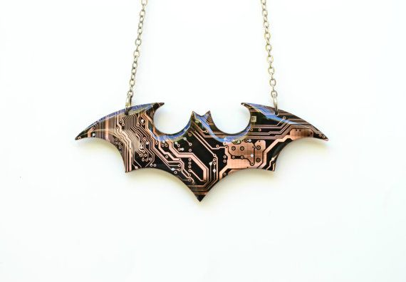 Batman The Dark Knight Necklace - Comic Marvel Superhero Batman Jewelry - Geeky Nerdy Sci Fi Jewelry  >>>>>The Batman necklace shown in the 1rst