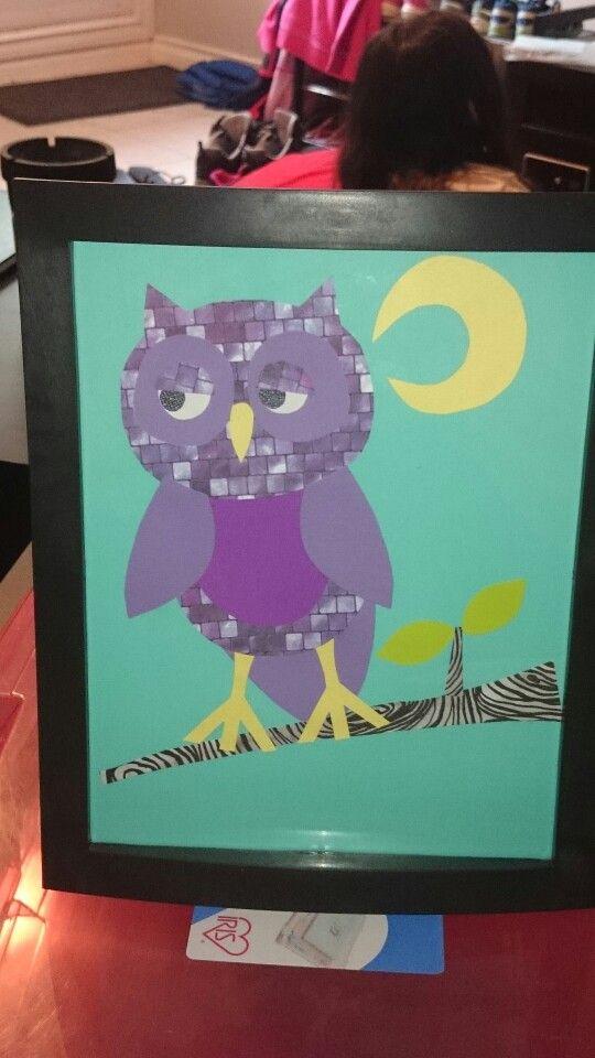 Owl nursery wall hanging