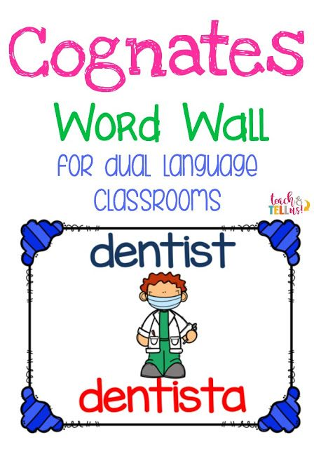 Cognates wall for dual language classrooms