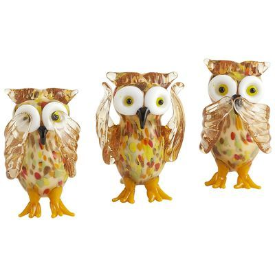 17 best images about see hear speak no evil on pinterest sock monkeys hobo nickel and shot - Hear no evil owls ceramic ...