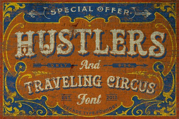20 Stunning Circus Fonts to Design Labels, Signs, and Cards ~ Creative Market Blog
