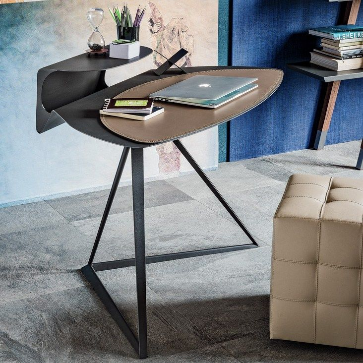 Tanned leather secretary desk STORM by Cattelan Italia