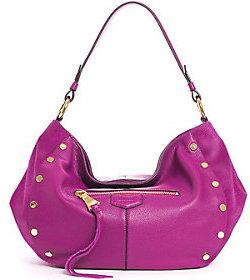 As Is Aimee Kestenberg Pebble Leather Hobo Handbag- Charlie