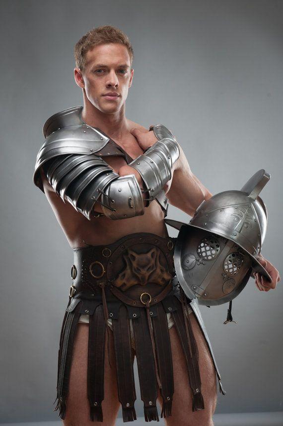Steel Shoulder  Spartacus Pauldron  Gladiator by IronWoodsShop