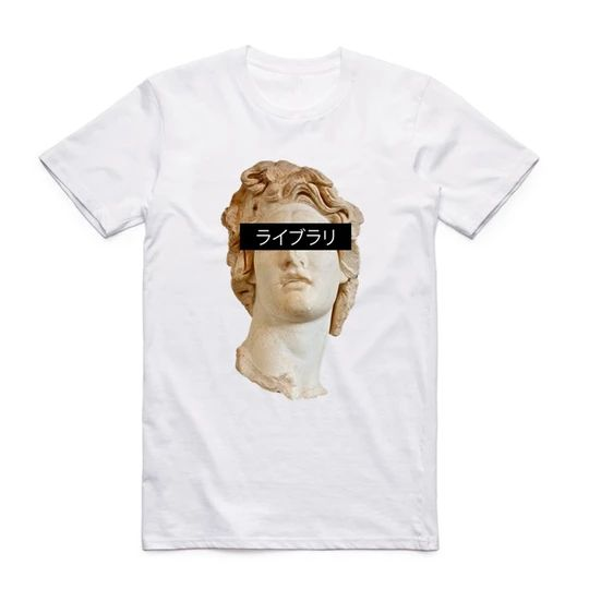 S-XXX Men Women Vaporwave Awesome T-shirt Short sleeve O-Neck Harajuku Fashion Tshirt Streetwear Swag
