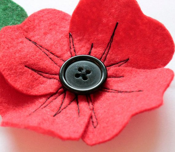 Love these ... We always lose so many of the paper versions and she makes a decent donation British Legion Felt poppy brooch donation to British Legion by accidentalvix