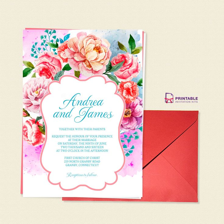 210 best Wedding Invitation Templates (free) images on Pinterest - free download invitation templates