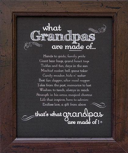 Grandpa Frame Grandpa Made Of Poem Christmas