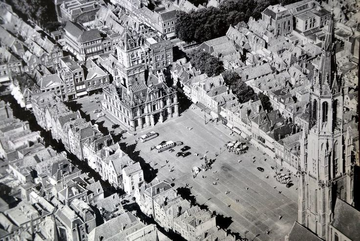 Markt Delft (jaartal: 1950 tot 1960) - Foto's SERC