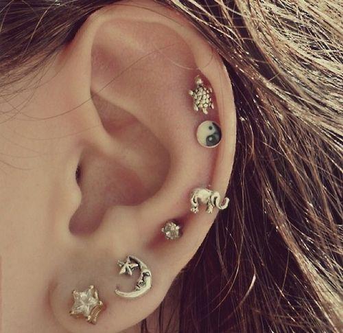 ear piercings tumblr - Google Search