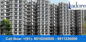 Adore Flats- Located in sector 86 of Faridabad , very prime location. Reputed  Shriram millennium school in a close proximity. A thoughtfully designed  group housing project with  park, parking and huge open spaces.