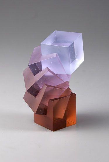 Heike Brachlow - Theme and Variations XXXII, polychromatic cast glass