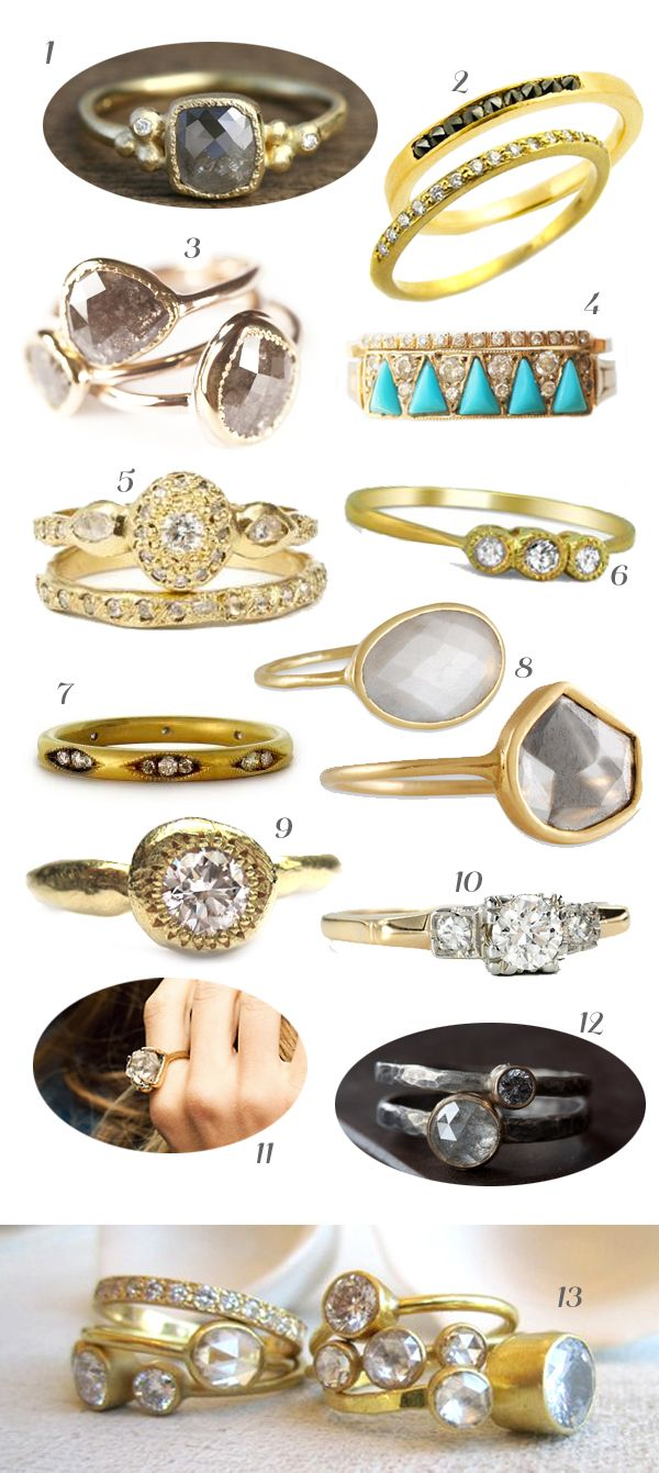 engagement ring inspiration | one part gypsy blog | conscious living & bohemian style