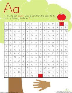 FREE alphabet mazes: