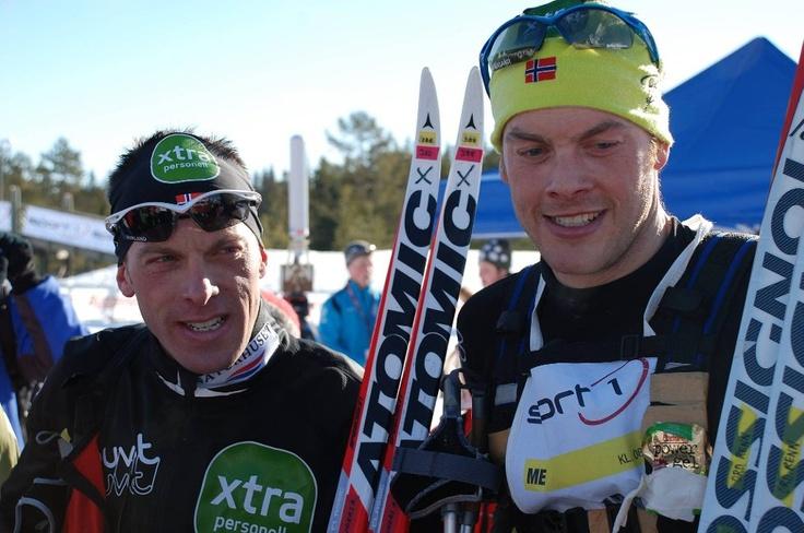 Jørgen og Anders Aukland, inne blant de ti beste.