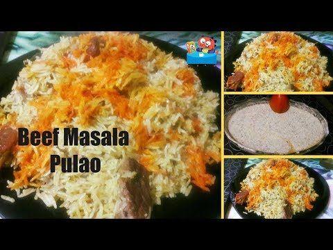 Beef Masala Pulao - beef biryani recipe مصالےدار بیف بریانی by Lotus Foo...