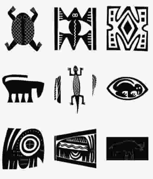 pictogramas::Queremos destacar con estos ejemplos las constantes de representación en el diseño indígena: la cruz, como generadora de la percepción de expansión y la presencia de un centro en cada figura.