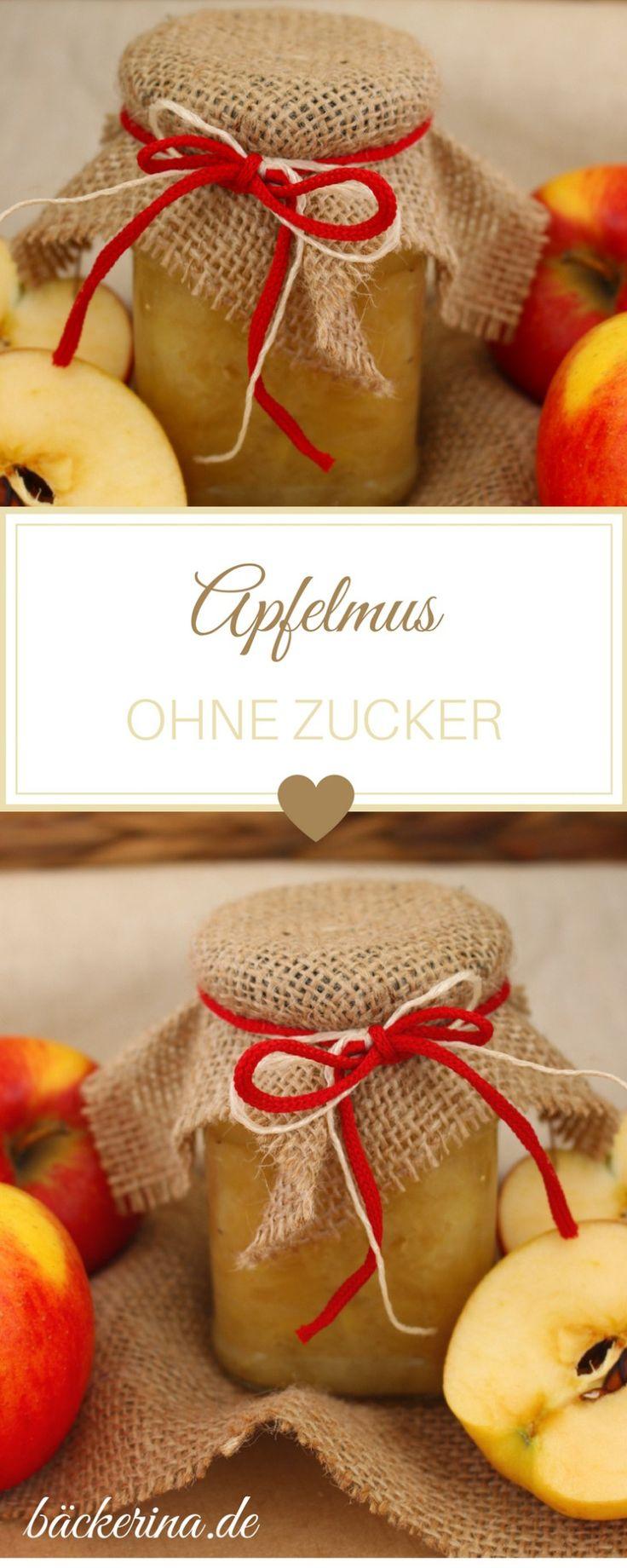 Apfelmus selbst machen ist eine gesunde Alternative. Mit diesem Rezept für selbstgemachtes Apfelmus ohne Zucker! || bäckerina.de