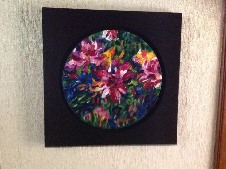 1 -Flores.en acrílico y terminado en Óleo sobre tela .2011 octubre. VENDIDO .