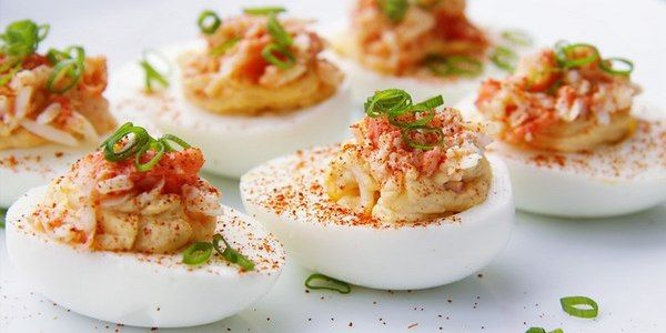 Stuffed eggs recipe (26 kinds of stuffing)