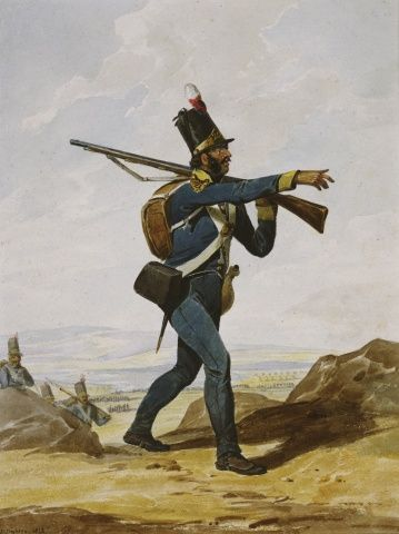 Portuguese Army. 20th Infantry Regiment, 1812.