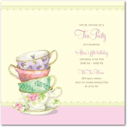 68 Best Tea Party Invitations Images On Pinterest | Tea Party