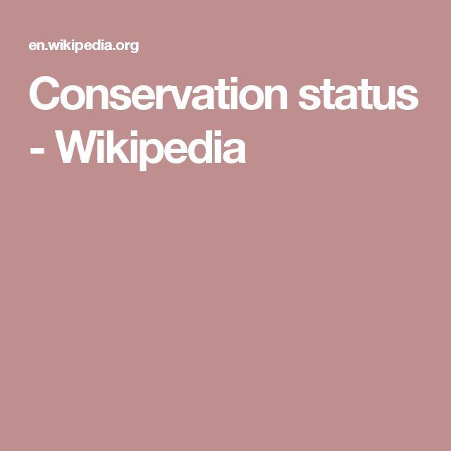 Conservation status - Wikipedia
