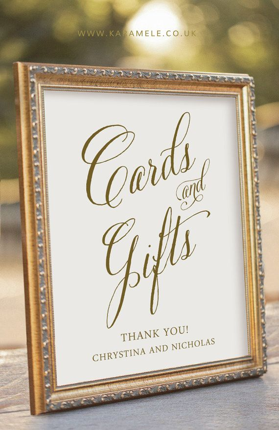Custom Printable Cards and Gifts Sign  Wedding Reception Sign