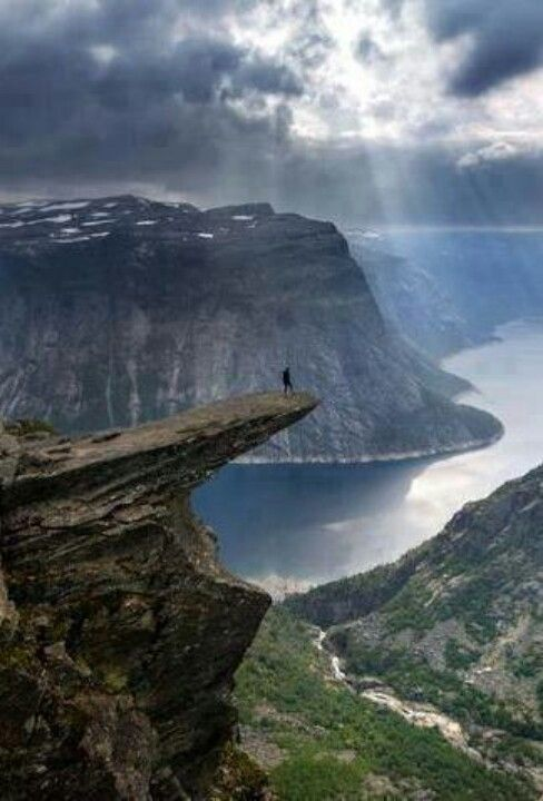 Trolltunga cliff in Norway