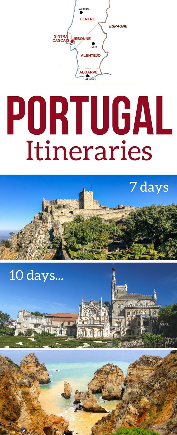 Portugal Travel Guide - Plan your Portugal Road Trip with Information and tips but Portugal itinerary suggestions for 7 days, 10 days and more - Lisbon to Porto, Algarve road trip etc | Portugal Algarve | Portugal things to do | Portugal Travel tips