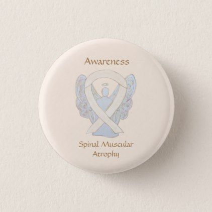 Spinal Muscular Atrophy Awareness Ribbon Angel Pin  $2.75  by AwarenessGallery  - cyo customize personalize diy idea