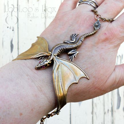 Dragon slave bracelet for the B'Sue Boutiques Creative Group May challenge. All brass, cold-connected, and fun!  https://www.etsy.com/listing/150369575/