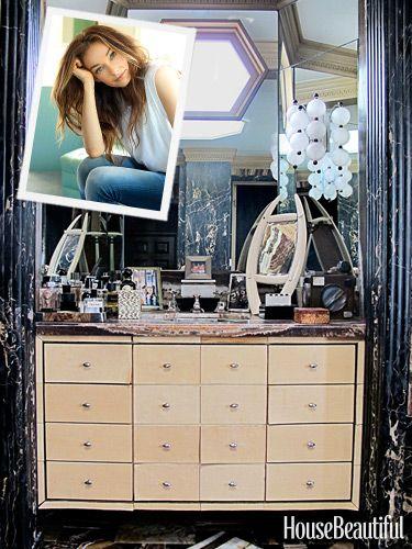 Kelly Wearstler's Glamorous Bathroom.