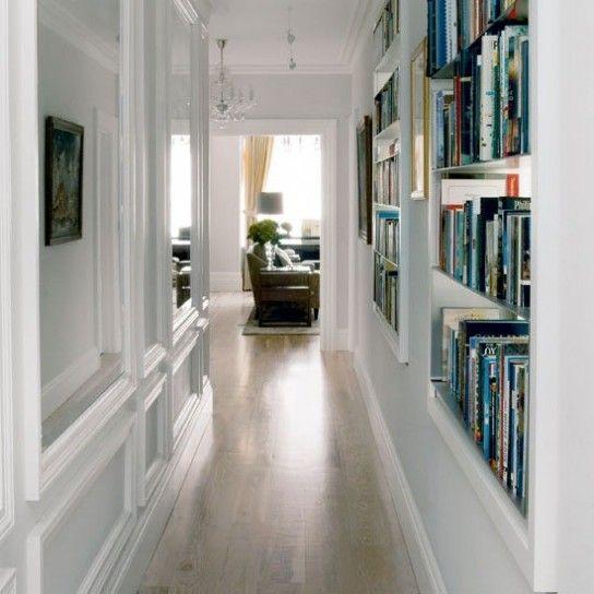 Oltre 25 fantastiche idee su libreria a muro su pinterest - Mobili per corridoio stretto ...