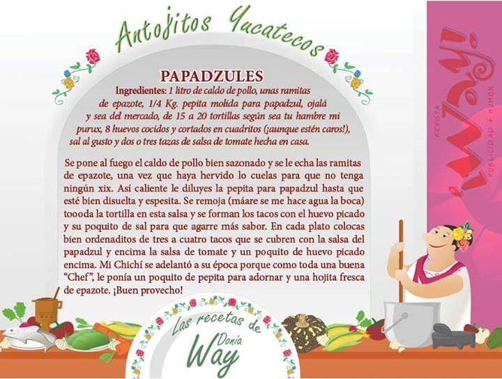 Papatzules, delicia yucateca. Aportación Doña Way