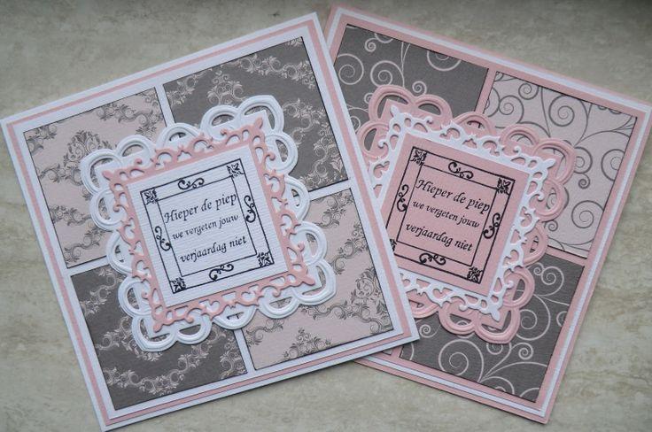 Papicolor designpapier: fijn barok en swirl lichtroze