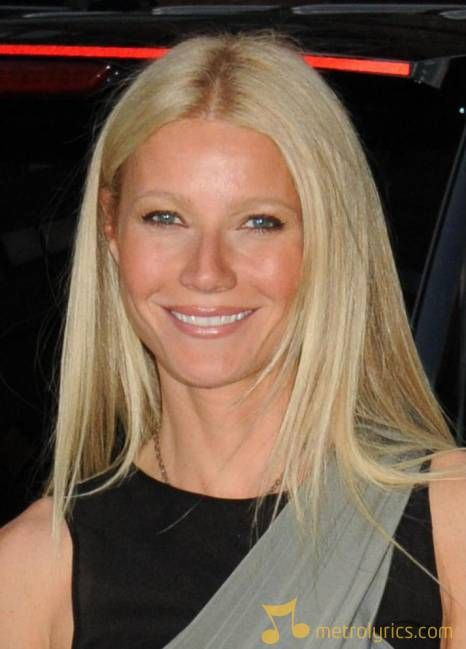 Gwenyth Paltrow in a black and grey dress!