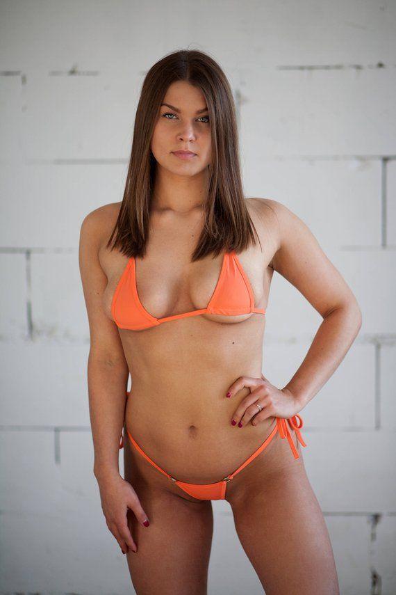 f660cd4723b40 Mini Bikini Set - Orange Color Extreme Micro Mini Bikini Thong G-string  Bathing Swimsuit