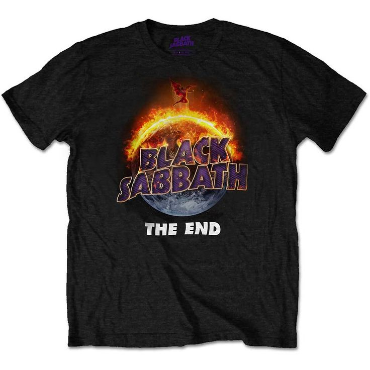 Black Sabbath Men's Budget Tee: The End Wholesale Ref:BSTS20MB