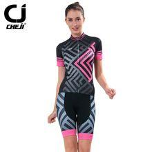 US $66.21 Cheji 2017 cycling suit women short sleeve Mtb Clothing Bike Wear Maillot Roupa Ropa De Ciclismo Mujer Breathable Cyclingwear. Aliexpress product