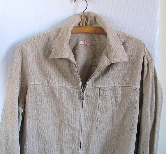 vintage jacket beige corduroy crop jacket / size L by artwardrobe, $26.00