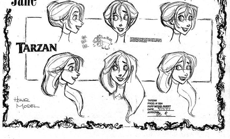Model Sheet Monday: Disney's Tarzan - Character Design Page