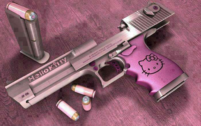 """""""Hello Kitty"""" Desert Eagle Pistol"""