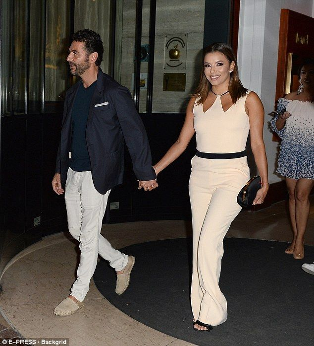 Happy days!Eva Longoria is no doubt in need of some much-needed downtime with her beloved husband José Bastón, as they were reunited in Cannes on Thursday - just two days before their first wedding anniversary