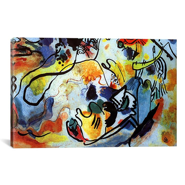 The Last Judgment by Wassily Kandinsky Prints Painting Print on Wrapped Canvas