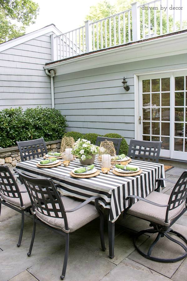 Perfect My 2016 Summer Home Tour. Outdoor TableclothOutdoor ...