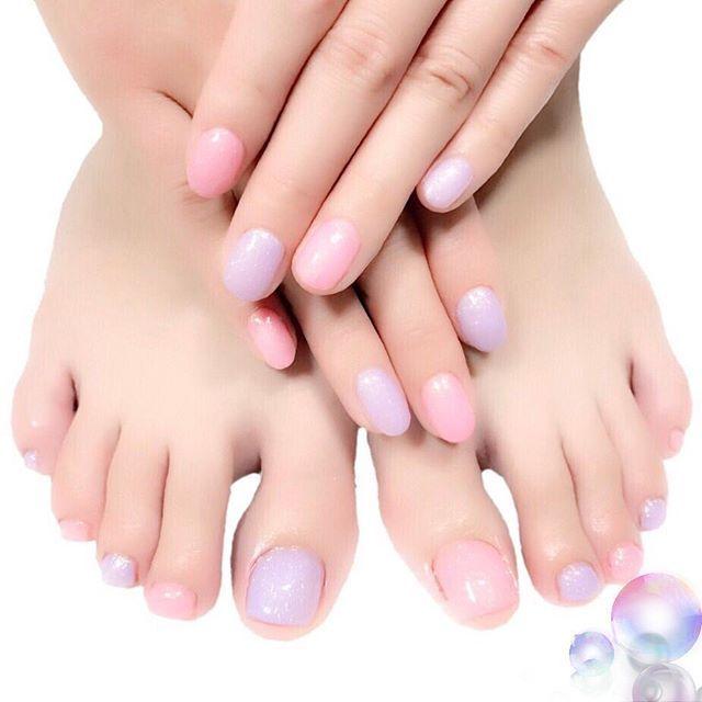Pink×Purple MissMirage NW07.12 #nail #nails #nailart #ネイル #美甲 #ネイルアート  #clou #nagel #ongle #ongles #unghia #footnails #フットネイル #ペディキュア #pedicure  #Aldious #ReNO ちゃん