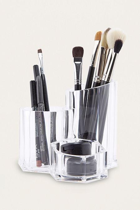 Three Compartment Make-Up Organiser