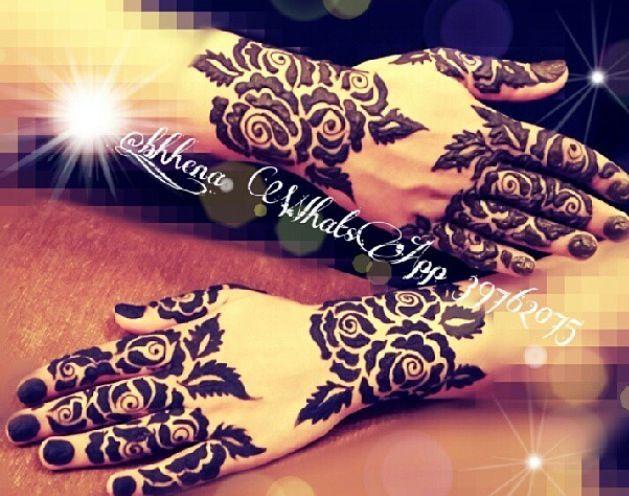 Mehndi Nape Tattoo : Best henna ankle tattoo design roses images