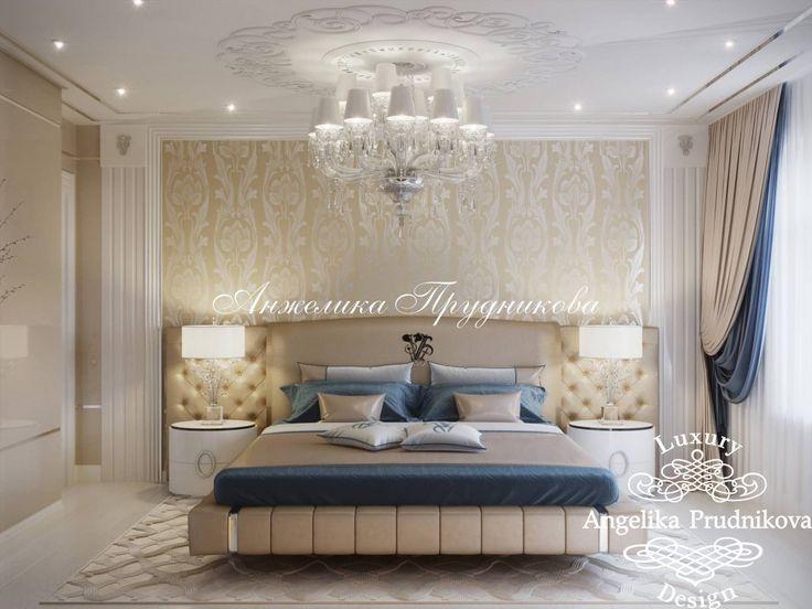 Дизайн Проект интерьера спальни в стиле Ар Деко в поселке Миллениум Парк в загородной усадьбе